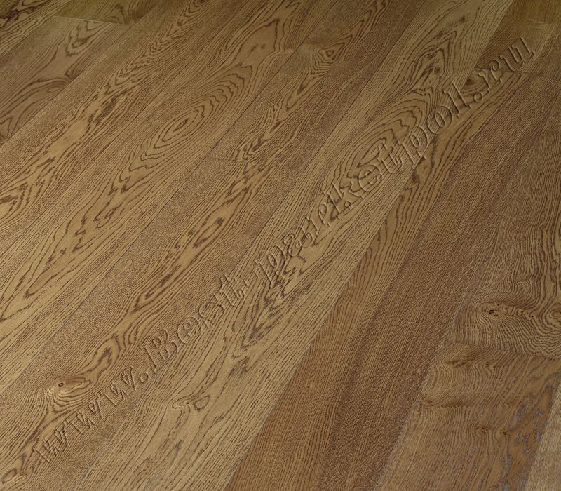 ДУБ  CLASSIC  BRUSHED  PLANK 185 Cognac Brown масло (доска однополосная)
