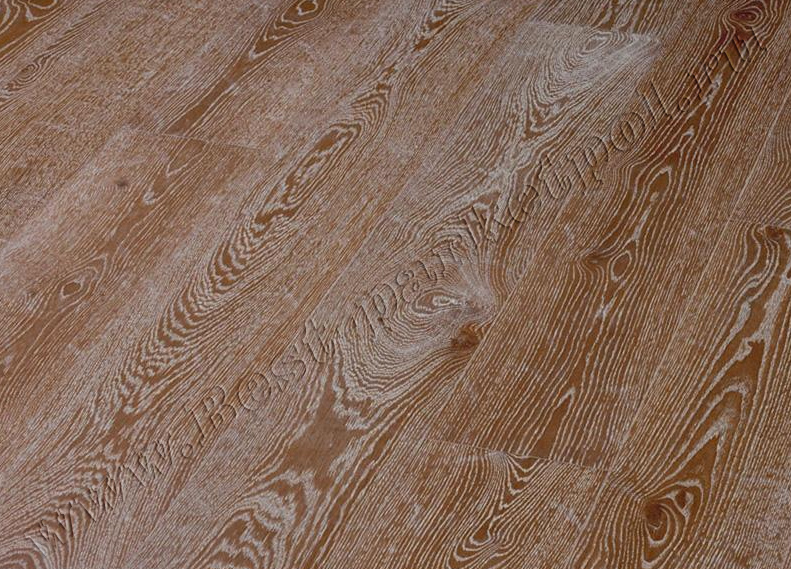 ДУБ  CLASSIC  BRUSHED  PLANK 185 BrownWhite  масло  (доска однополосная)