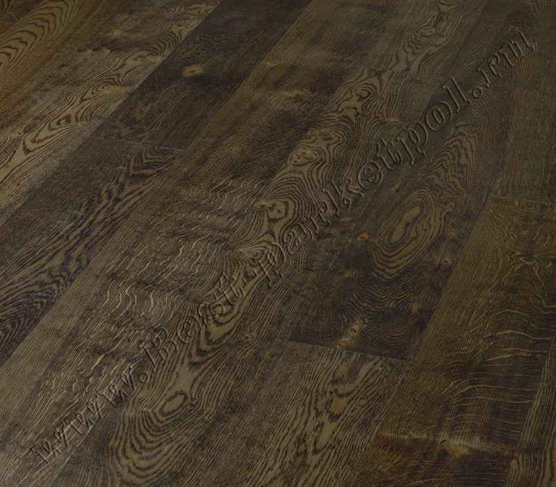 ДУБ  CLASSIC  BRUSHED  PLANK 185 Eben Black  масло  (доска однополосная)