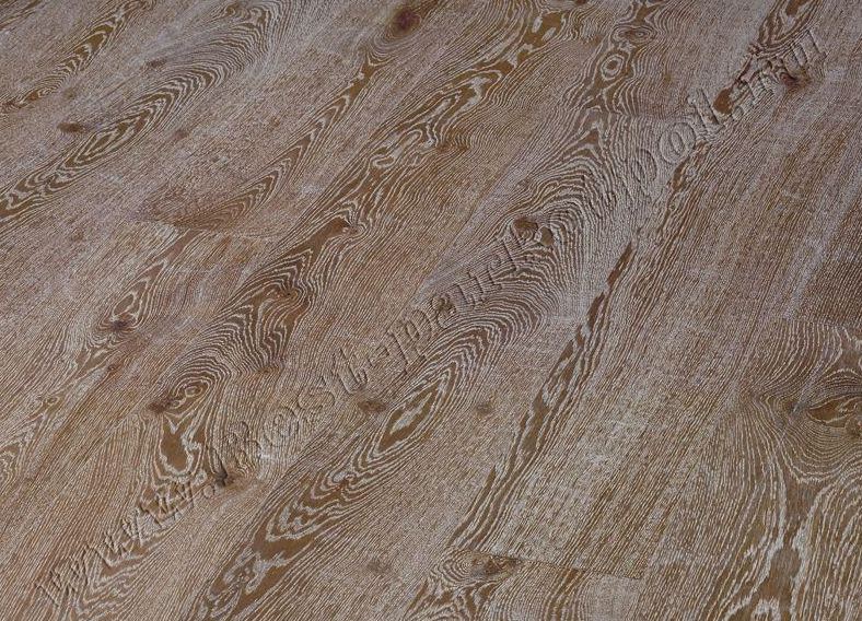 ДУБ  RUSTIC  BRUSHED  PLANK 185 BrownWhite  масло (доска однополосная