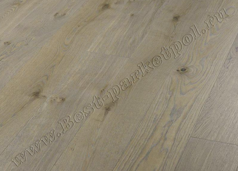 ДУБ  RUSTIC  BRUSHED  PLANK 185 Clay Grey  масло (доска однополосная)