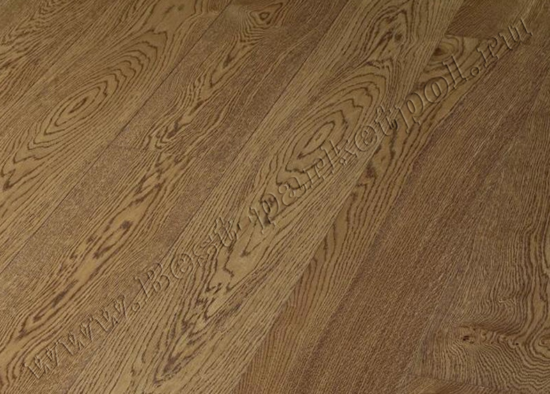 ДУБ  RUSTIC  BRUSHED  PLANK 185 Cognac Brown масло (доска однополосная)