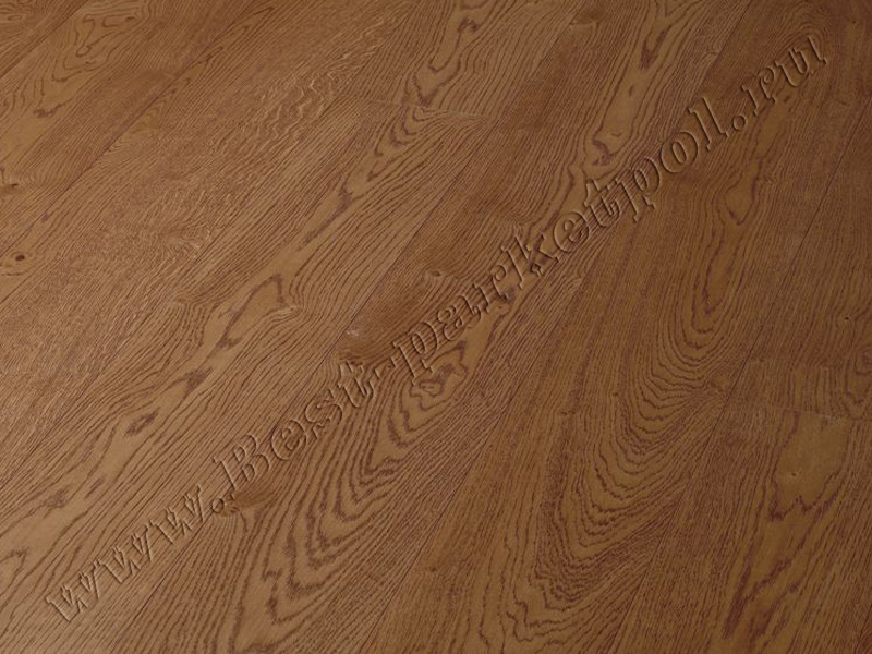 ДУБ  RUSTIC  BRUSHED  PLANK 185 Mahogany масло (доска однополосная)